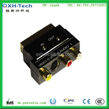 Scart to 3RCA Video input Adapter High Quality Factory Price