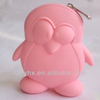 lovely penguin silicone zipper coin purse