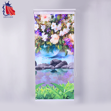 ZANYOU custom size color printing flowers roll down curtains