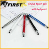 Factory wholesale stylus touch pen with rotation type metal ball pen