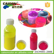 Factory supply fluorescent Lemon Yellow pigment liquid for interior paint