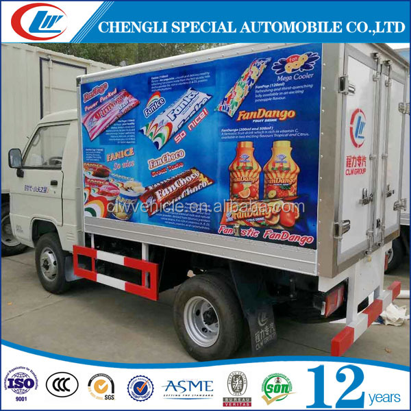 FOTON 1.5T Freezer Fresh Vegetable Cargo Truck For Sale