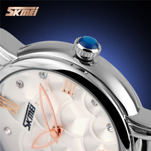 Fashion Lady Genuine Leather Band Best Women Watch Brand From SKMEI 9095