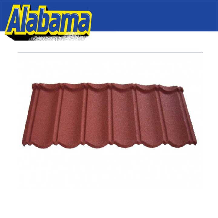 Coluor Diversity colorful textured metal roofing tile, red insulation roof tile