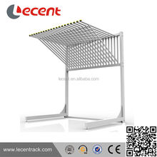 Metal carpet sample rolling display rack