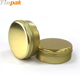 Round aluminum screw top tin container for cosmetic packaging