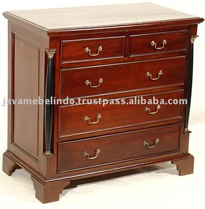 MAHOGANY FURNITURE OF EMPIRE CHEST 5 DRAWER