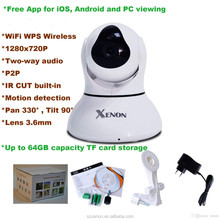 indoor wireless 2mp email alarm hd video all in one ip network camera