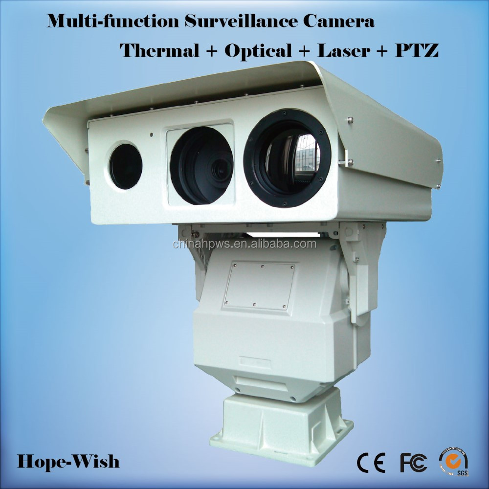 3 channel view camera 10km detection multi sensor infrared thermal laser camera