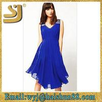 beautiful women fashion smart elegant new arrival sleeveless dress
