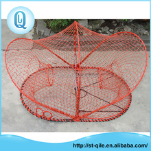 Top quality oval 94.5X63.5X61cm red rebar frame lobster trap wire
