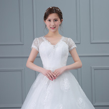 WTY68 Hot Sale Cheap wedding dress 2016 Tulle Sweetheart applique Lace wedding gowns sequins beach vestido de noiva