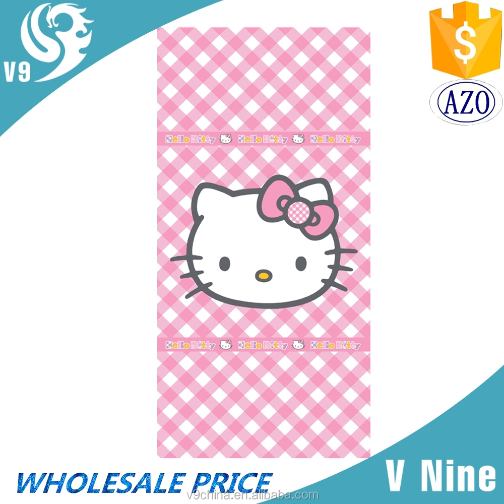 factory promotion 100% cotton velour reactive custom logo printed beach towel woven cotton bath towel