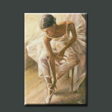 BC13-7261 Newest Handmade Dancing Women Oil Painting For Decor
