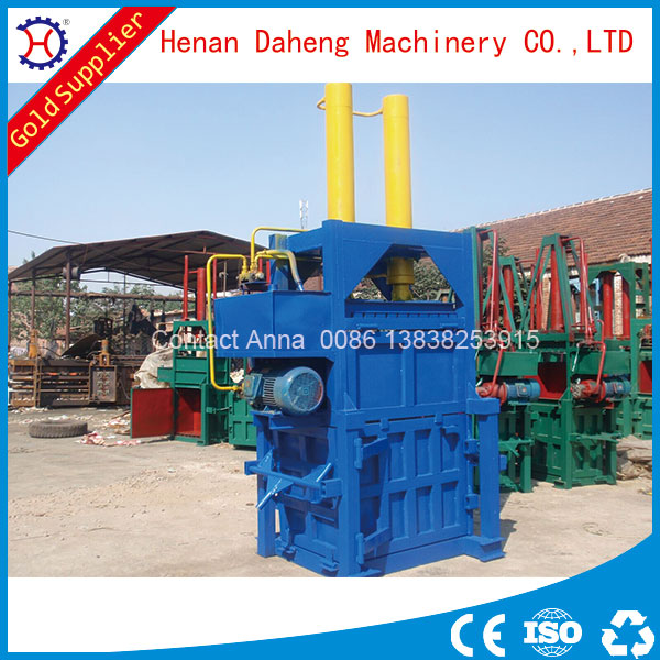 vertical type hydraulic baling press for waste bags