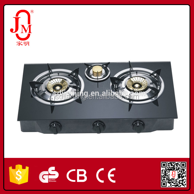High Quality Built-in Table Glass Gas Stove 3 Burner