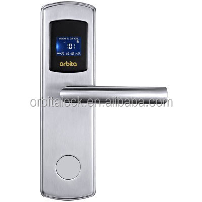 2015 new design electronic smart card contactless hotel door lock with management software