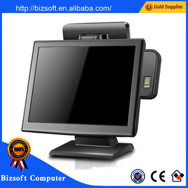 Bizsoft touch screen pos system with cheap pos terminal price in retail for Postouch BX15
