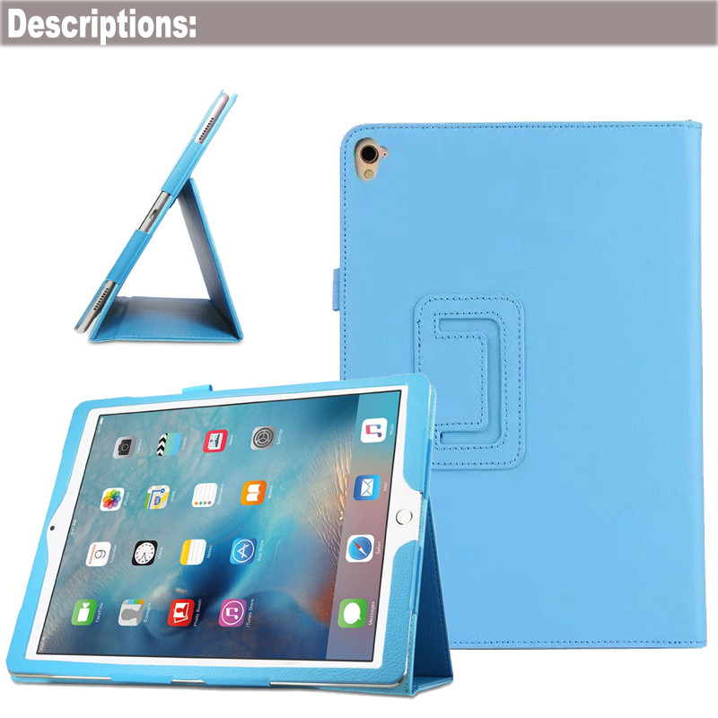 Book Style Kickstand Folio Leather Tablet Case Cover for iPad Pro 9.7 with Photo Frame Pattern