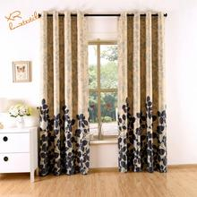 Factory sales ready made window curtain with printing blind curtain