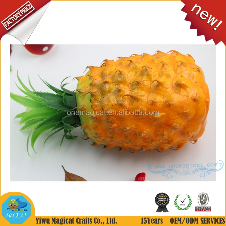 120mm Fake fruit pineapple wholesale artificial fruit for home decoration