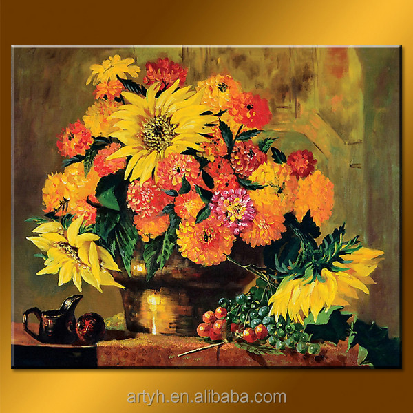 New arrival handmade flower oil painting picture