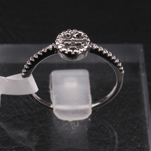 2016 latest design dollar store jewelry zircon micro paved white gold double T ring jewelry