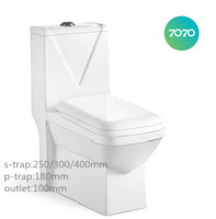 chao zhou cheap ceramic washdown One Piece S-trap P-trap toilets for sale z935