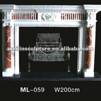 Carved Stone Fireplace Stove