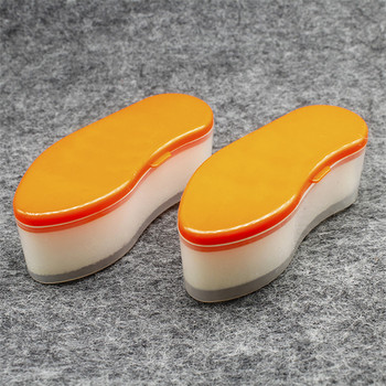 Shoe like shoe shine applicator polish sponge