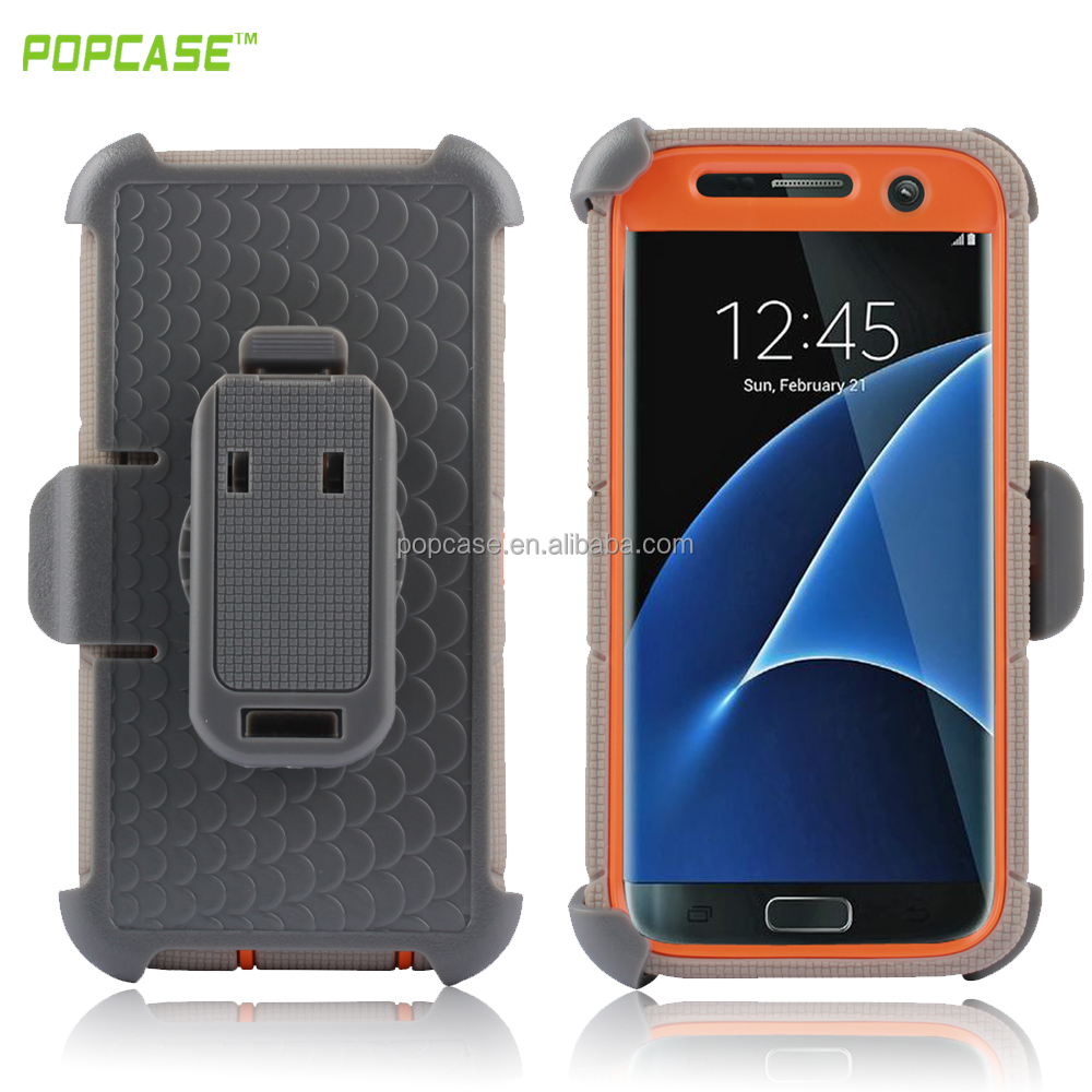 2016 hybrid case with belt clip holster for samsung galaxy s7 edge