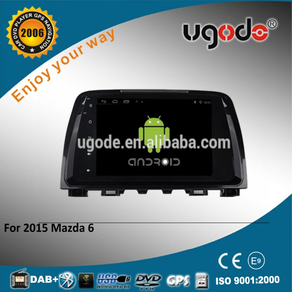 "ugode 9"" Touch screen For NEW MAZDA 6 Car DVD GPS Quad Core Pure Android 4.4.2 HD 1024*600 Resolution"