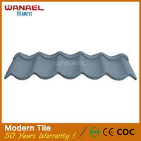 Modern house design Wanael Red Clay Imitation Roof Tiles