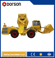 New dorson ISO affordable electric rotating drum small self loading concrete mixer from professional supplier dorson