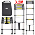 3.2m Extendable Foldable Telescopic Aluminium Ladders + Carry Bag