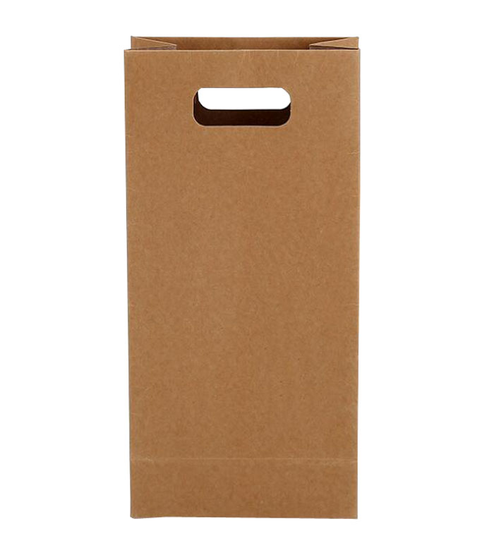 Flat bottom U cut handles kraft paper bag for food packaging bags with custom logo