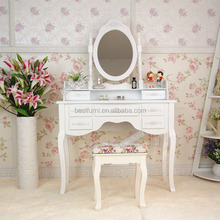 2016 New Products Bedroom Furniture White,Black or Espresso Vanity Set Make Up Table Dresser Hot Sale