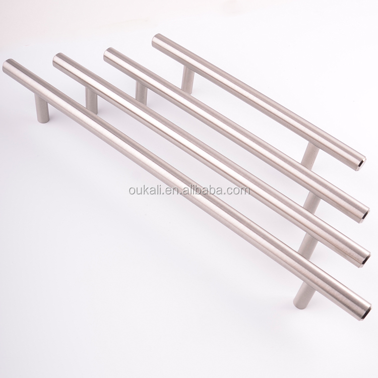 Factory cheap 12mm Or 10mm diameter T Bar American Style Stainless Steel Modern Bedroom Furniture Cabinet Kitchen T Bar handles