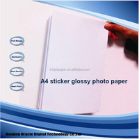 self adhesive photo paper a4. glossy inkjet printer sticker paper