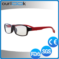 2017 Good Quality Fancy Style Anti Blue Ray Twisty Folding Plastic Reading Glasses