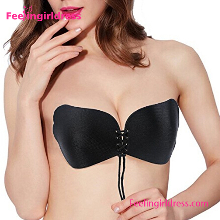 Wholesale Cheap Push Up Invistable Backless Strapless Silicone Bra