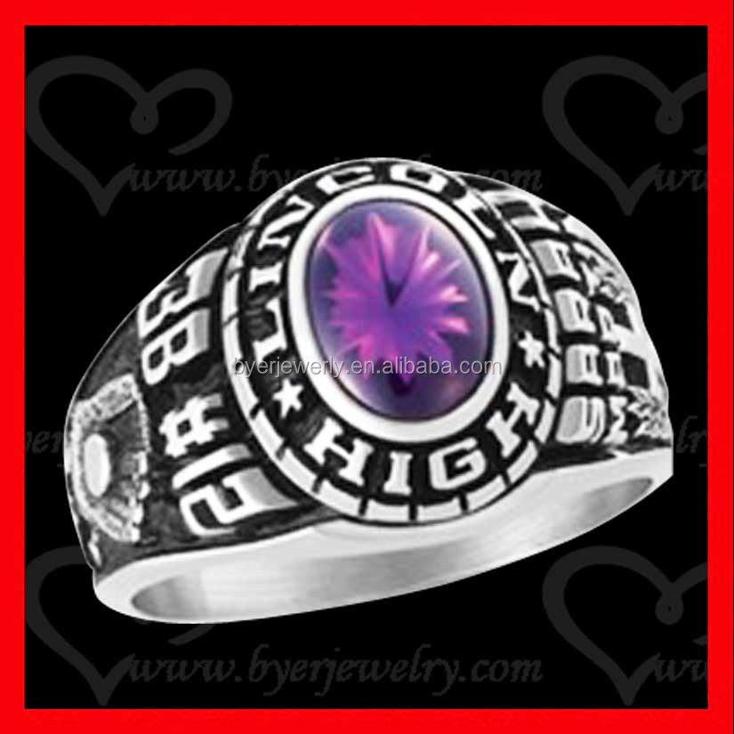 factory direct sale 925 sterling silver jewelry gift high school class ring wholesale