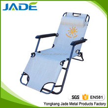 Deluxe multi-function furniture outdoor folding lazy lounger for beach/sun lounge beach chair with footrest