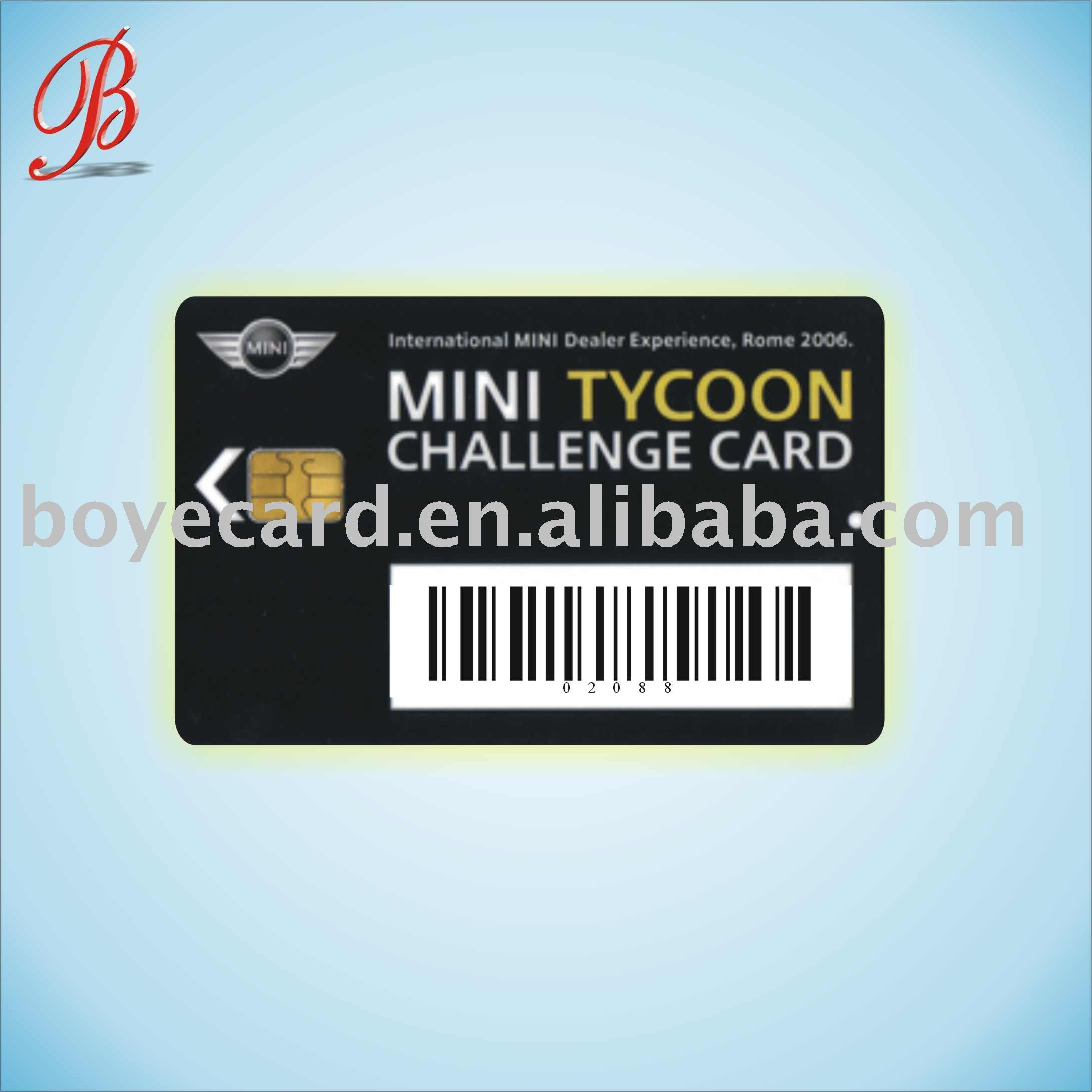 Bar code rfid hotel key cards with chip sel 4428/4442