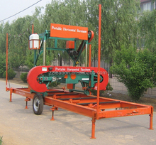 Leabon Horizontal Wood Logs Band Saw Mill Machine