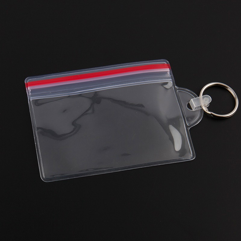 clear soft pvc card badge holder for promotion