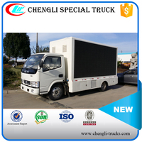 Dongfeng 4x2 6 wheels Led Mobile Advertising Truck 120HP for sale