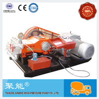 Low pressure plunger pump for jet grouting