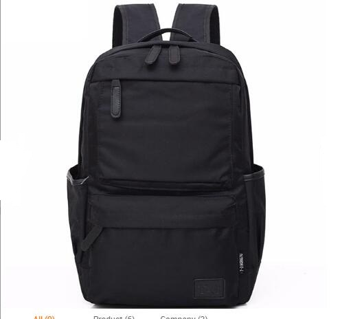 Wholesale new fashion nylon black men backpack high quality waterproof business laptop bag