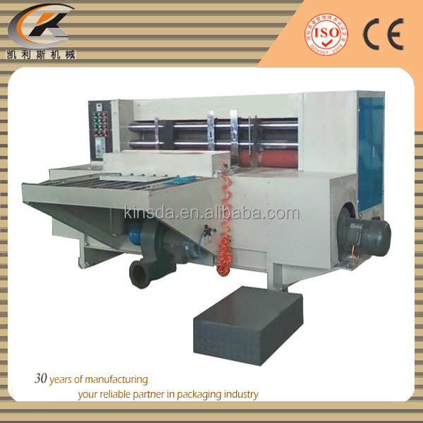 back kick feed rotary die cutting and creasing machine
